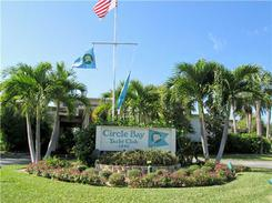 Entrance to Circle Bay Waterfront Condos in Stuart Florida