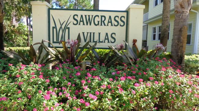 Entrance to Sawgrass Villas in Palm City