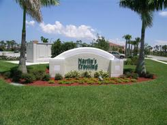 Martins Crossing Sign