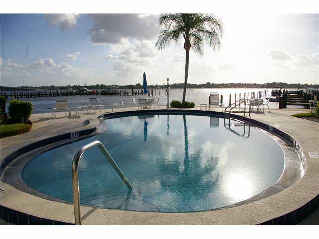 Pool of Windjammer Condos in Stuart, Florida