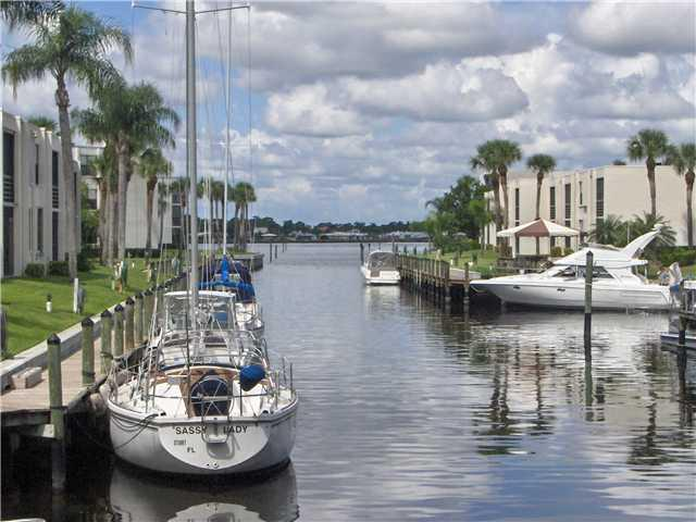 Canal of Circle Bay Waterfront Condos in Stuart Florida