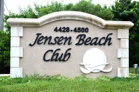Entrance to the Jensen Beach Club