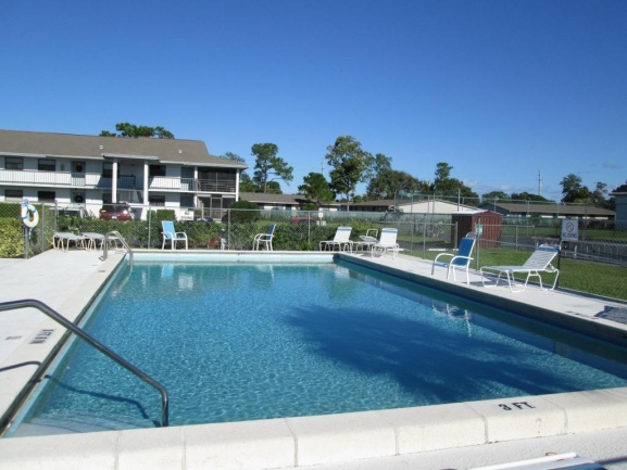 Community Pool in the Parkview Condos in Stuart FL