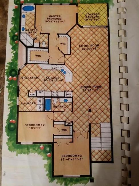 Floor plan of Sawgrass Villas in Palm City
