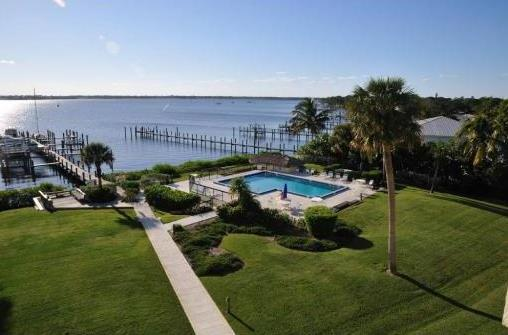 Sunset Cove Waterfront Condos pool and docks