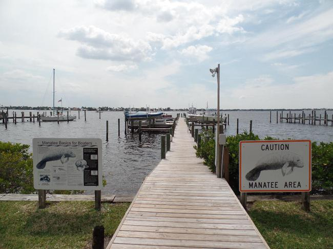 Sunset Cove Waterfront Condos dock entrance
