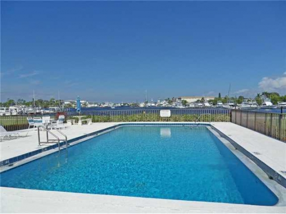 Pool in Port Manatee condos in Rocky Point