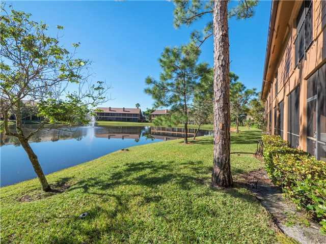 Lake in Crestwood Townhomes in Stuart FL