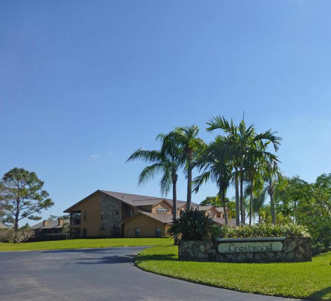 Entrance to Crestwood Townhomes in Stuart FL