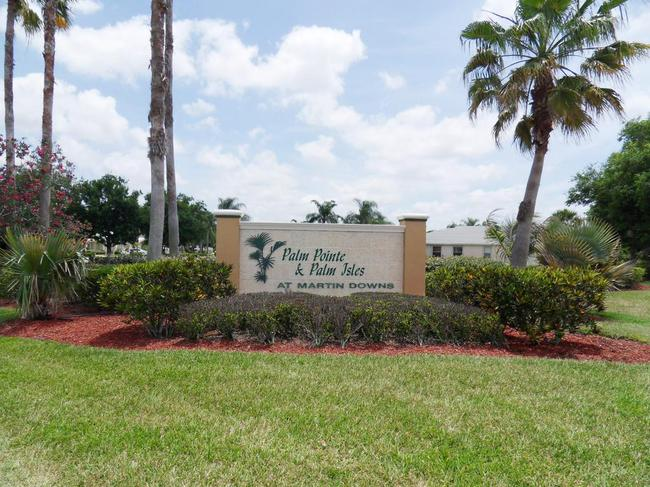 Palm Pointe and Palm Isles real estate in Palm City - sign