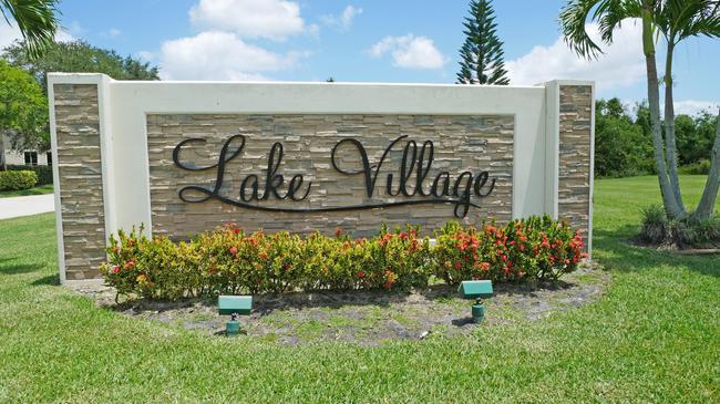 Lake Village / Crossings Sign